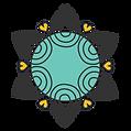 Golden Heart Performing Arts Modern Mandala Logo