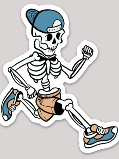 Skeleton Runner Sticker