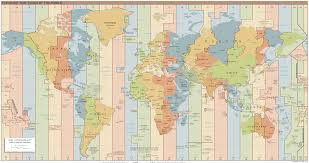 Astrology blog, Time Zone Chart