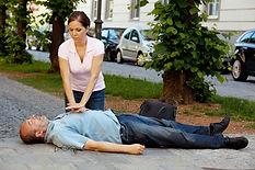 Cardiac massage. First aid for heart att