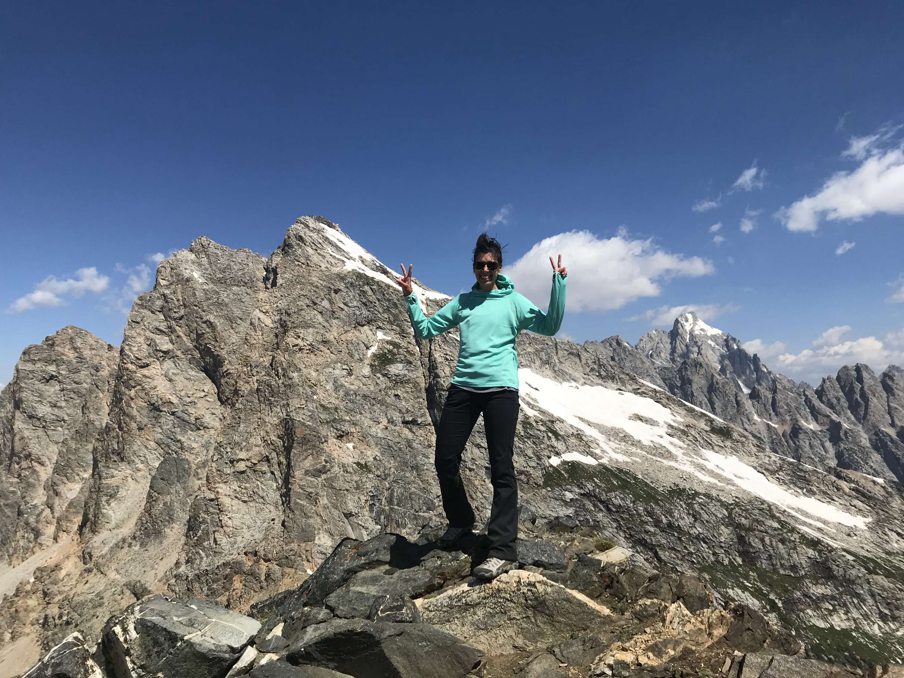 Static Peak summit in the Tetons
