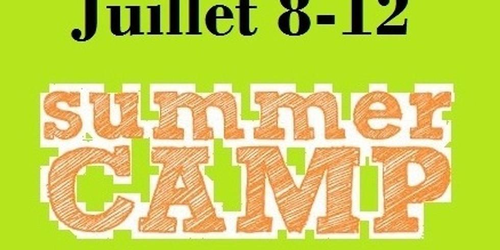 Camp de jour---Juillet 8-12