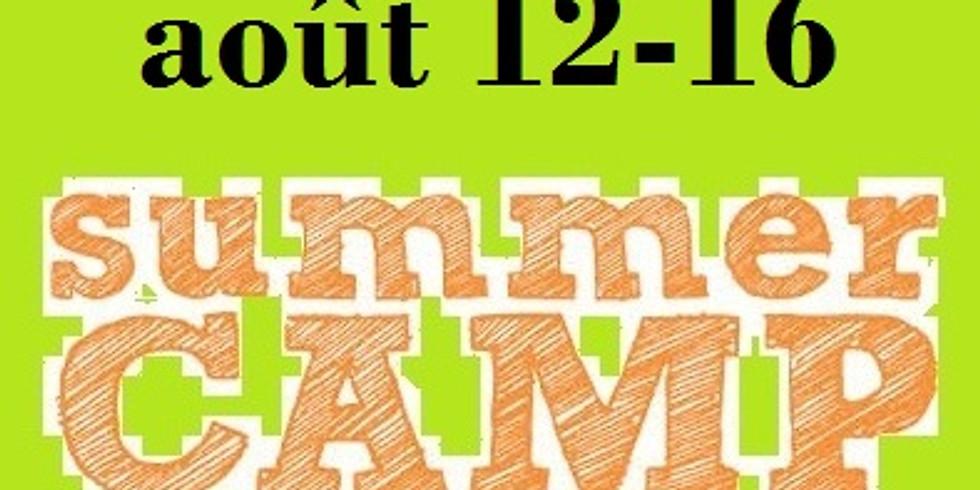 Camp de jour---août 12-16
