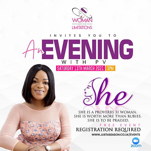 SHE - An Evening with PV