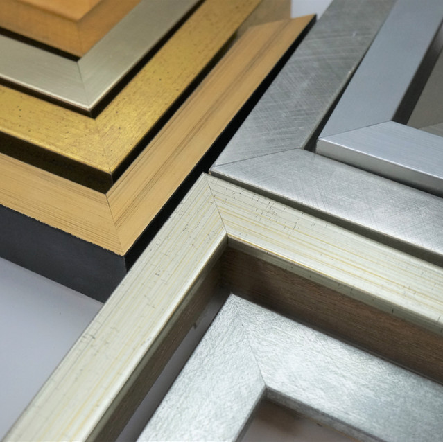 Solid gold & silver frame