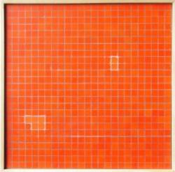 Untitled Orange Red by Wong Chak Hun