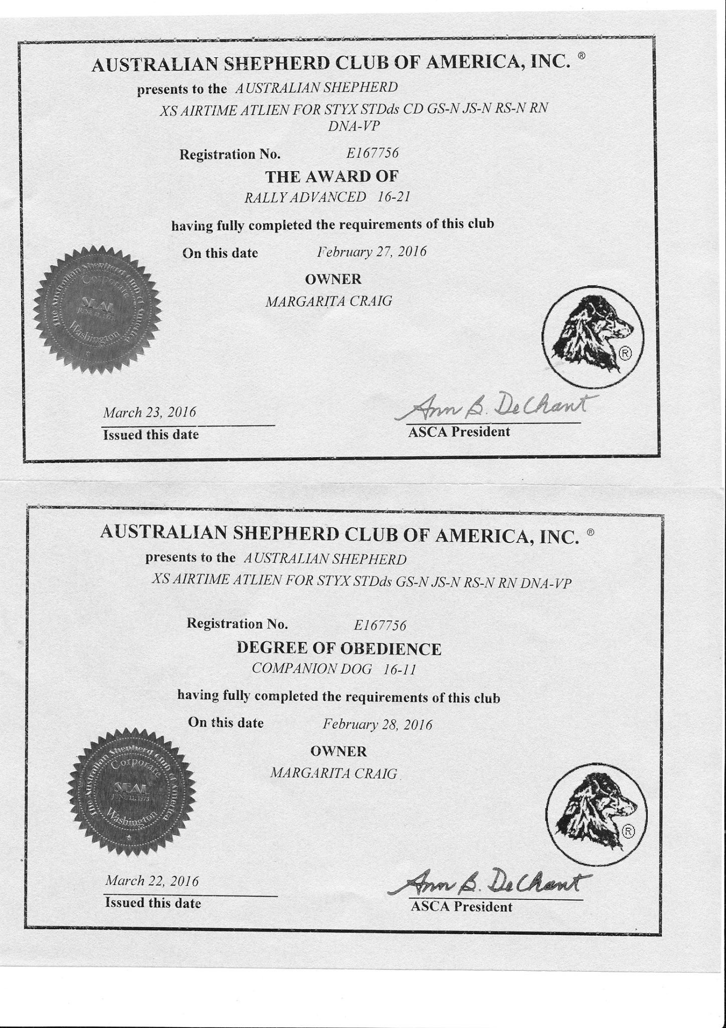 ASCA Titles