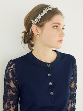 Lace-embellished polo shirt