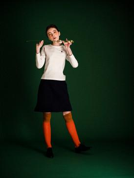 Lucy pleated linen-blend mini skirt