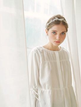 Cotton poplin lace blouse