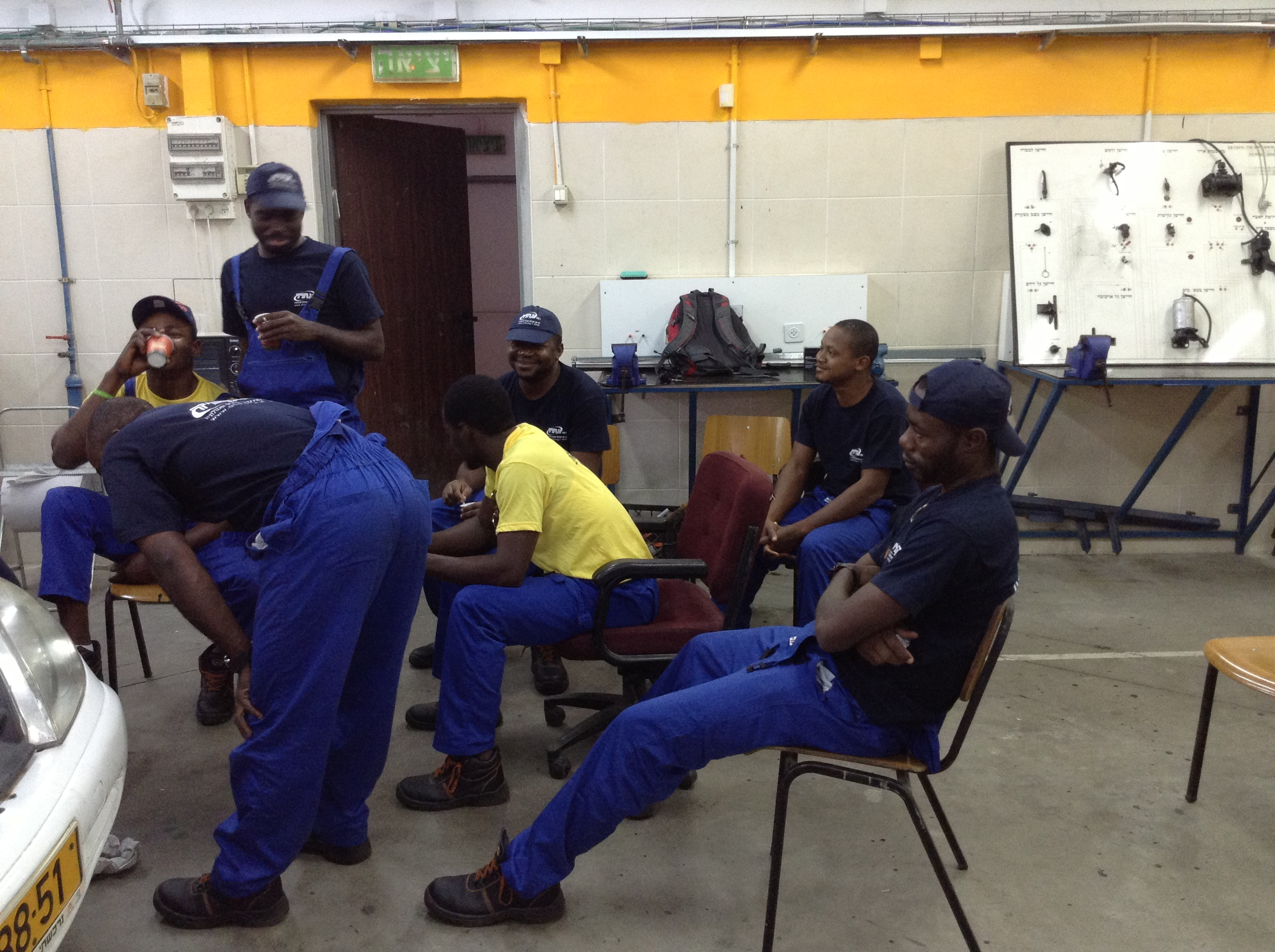 Nigerian Students Studying Mechanics