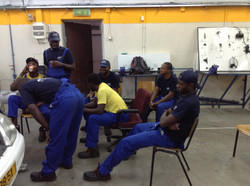 Nigerian Students Studying Mechanics