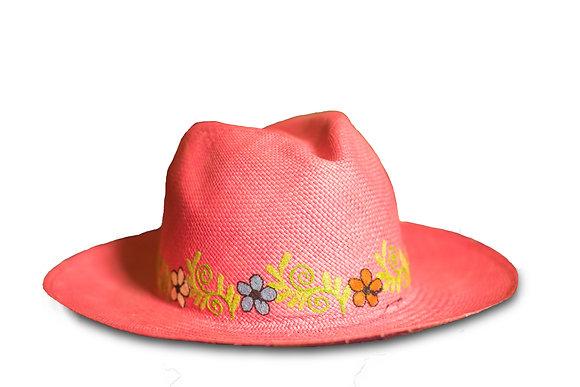 Panama hat pink 30%OFF