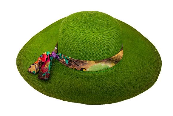 Panama hat green