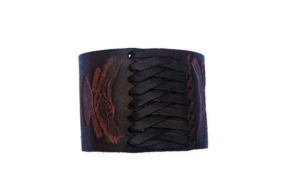 Aboriginal leather bracelet (Brown)
