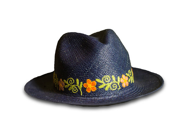 Panama hat blue 30%OFF