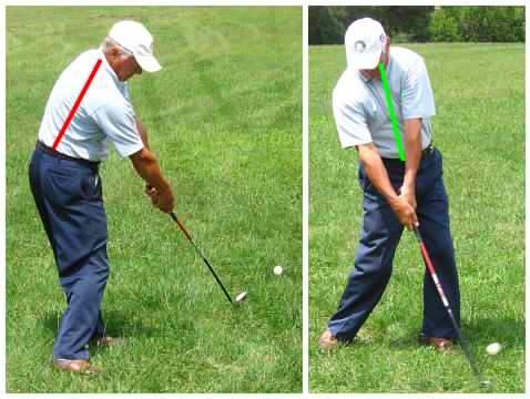 golf swing mechanics demonstration
