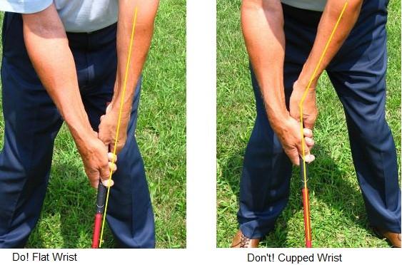 golf swing wrist positioning