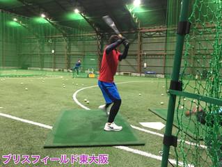 野球の室内練習場として施設貸出中