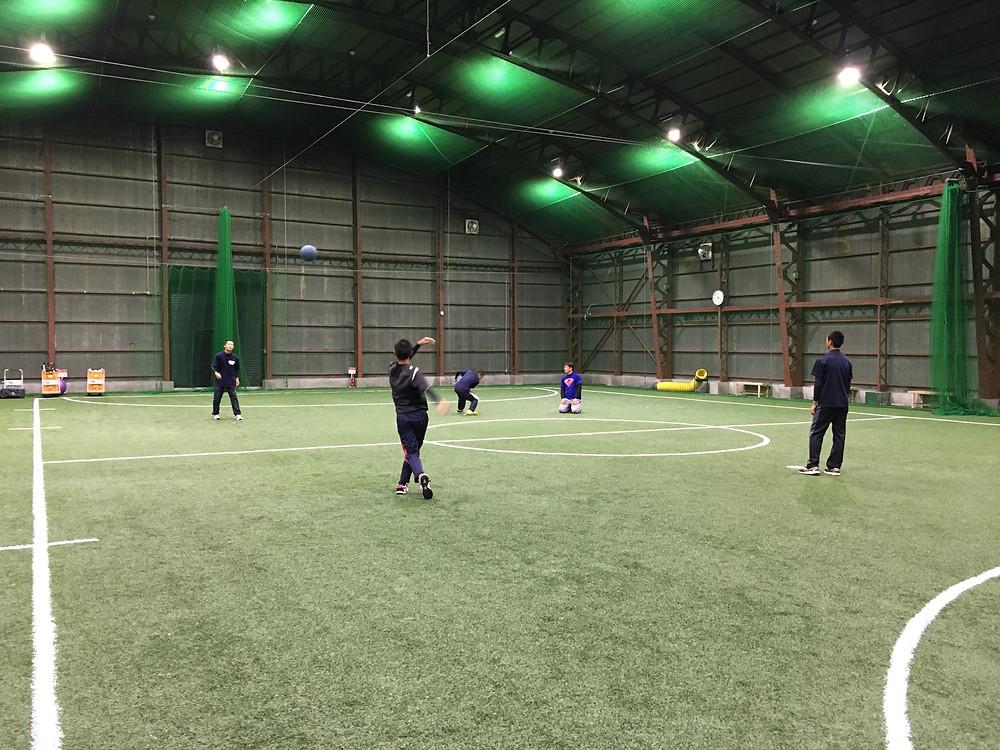 野球教室 メディシンボールトレーニング