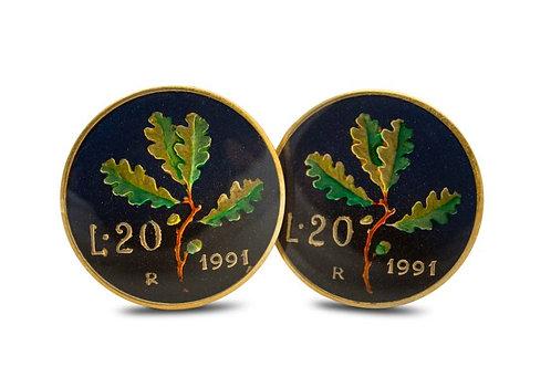 Italy 20 Lire Oakleaves