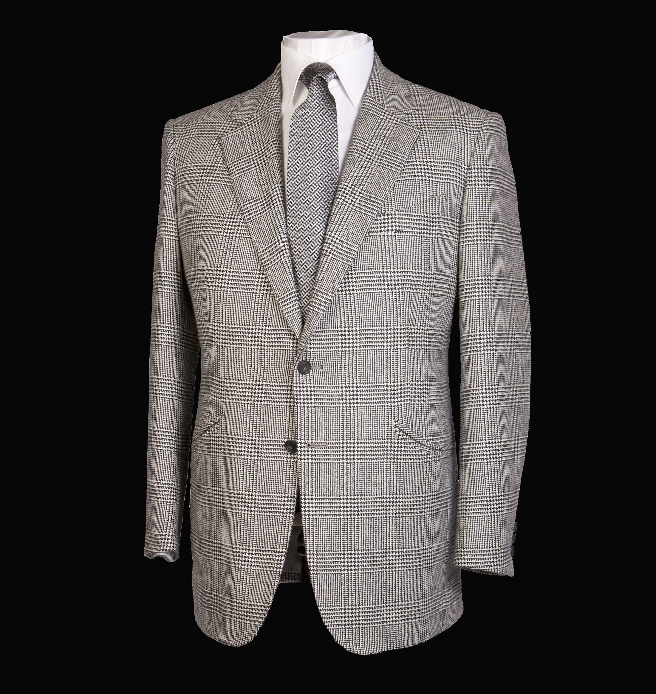 Grey Check Jacket with grey tie