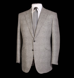 Grey Check Jacket with grey tie