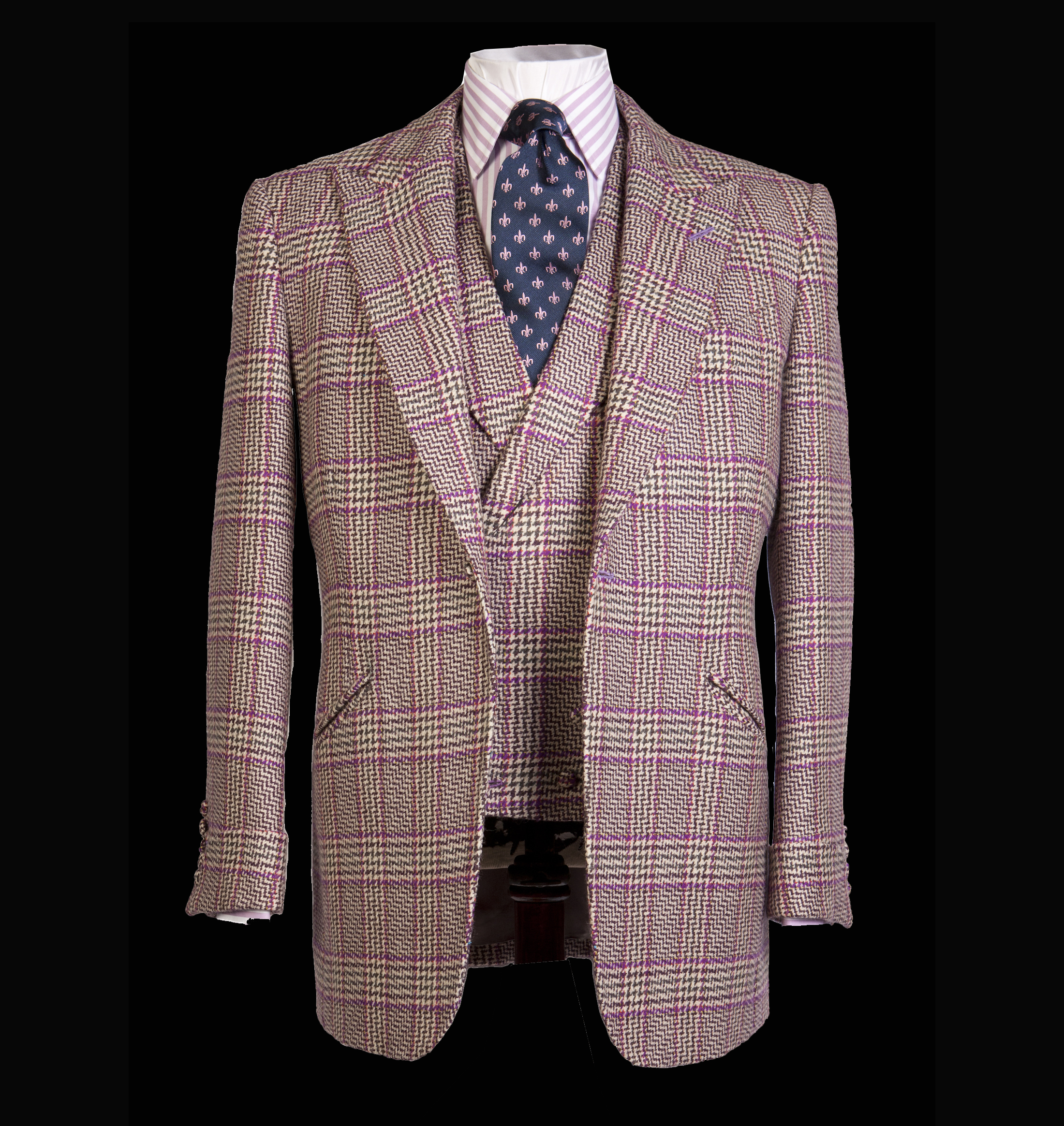 Bespoke Tweed Check Jacket and Waistcoat London