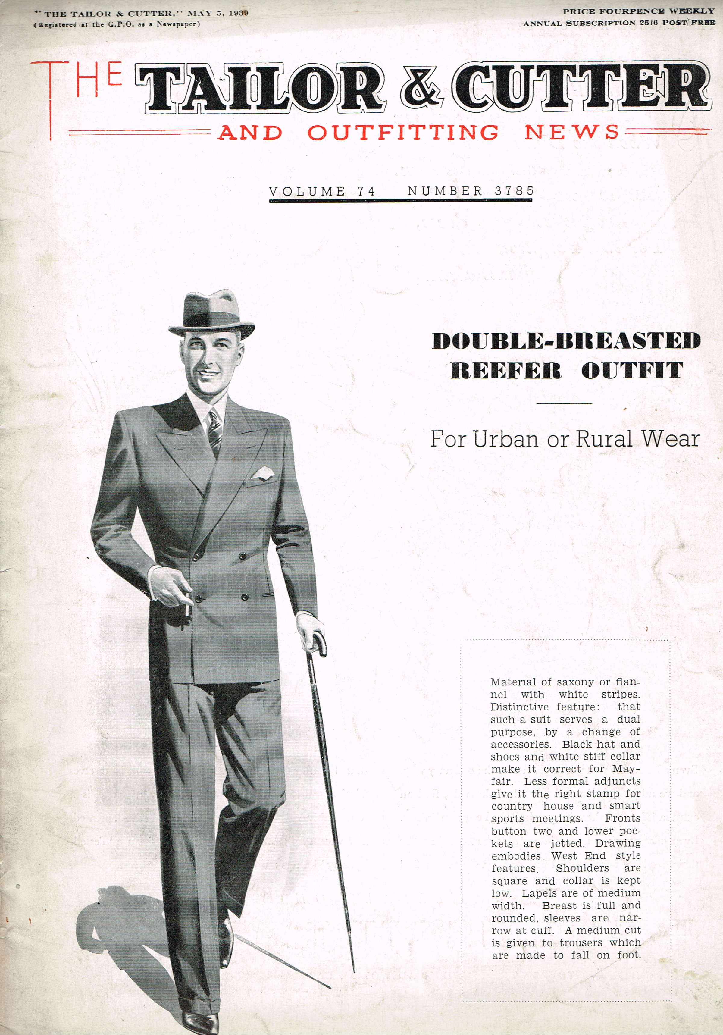 4-1939-May-5 Tailor & Cutter Savile Row