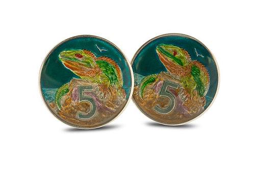 New Zealand 5 Cent Tuatara Lizard