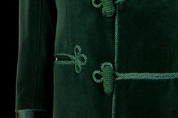 Green Frogging Detail on Savile Row Velvet Jacket