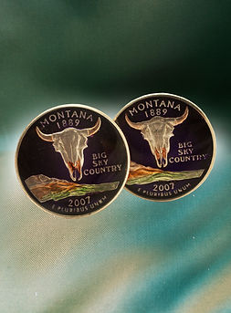 Cufflinks Montana American Quarter Dollar