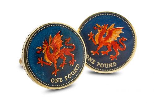 One Pound Welsh Dragon
