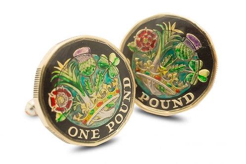 One Pound UK Four Emblems