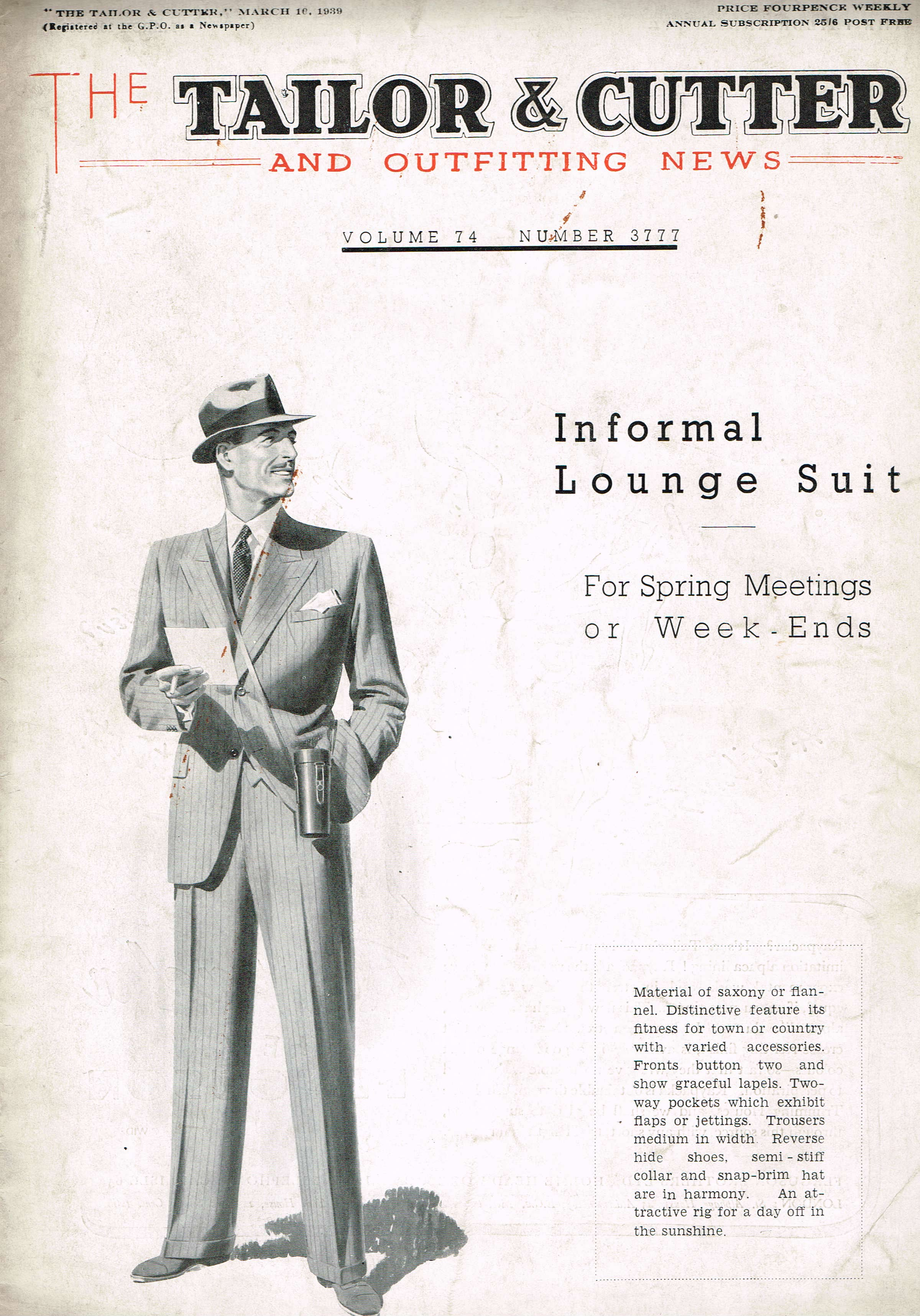1939 March Tailor & Cutter Savile Row