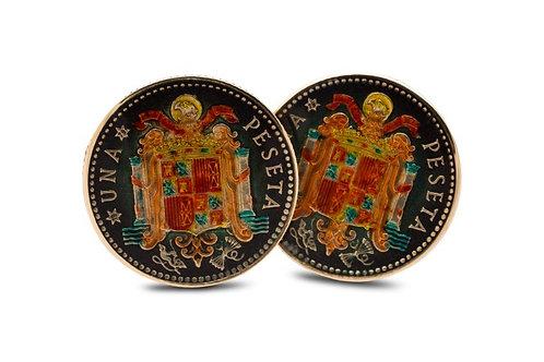 Spain 1 Peseta Spanish Coat of Arms