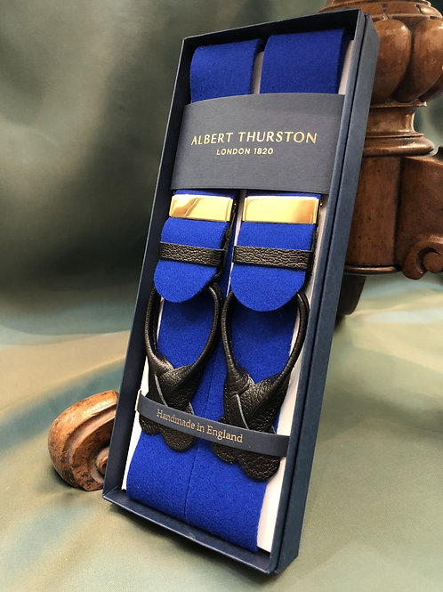 Royal Blue Boxcloth Braces