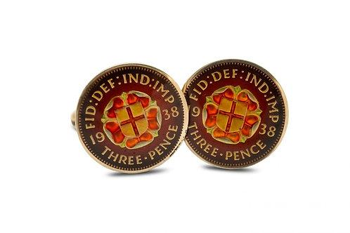Three Pence St George Cross Shield Silver