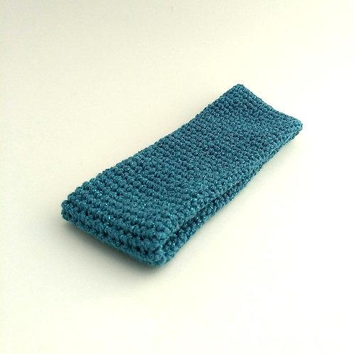 Stirnband türkis-Glitzer