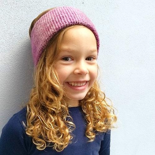 Stirnband rosa-Farbverlauf
