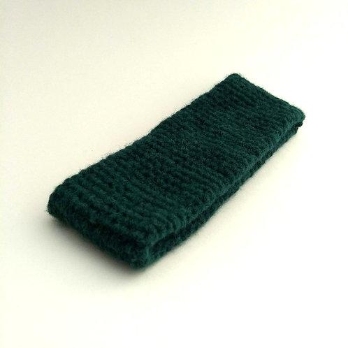 Stirnband flaschengrün