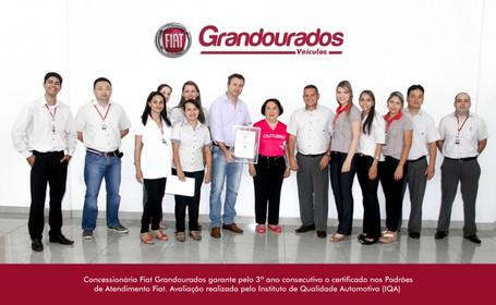 Concessionária Fiat Grandourados garante pelo 3º ano consecutivo o certificado nos Padrões de Atendi