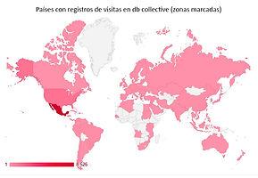 Registro de países que han visitado el sitio