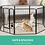 Thumbnail: 8 Panel Pet Dog Playpen Puppy Exercise Cage Enclosure Fence Play Pen 80x100cm