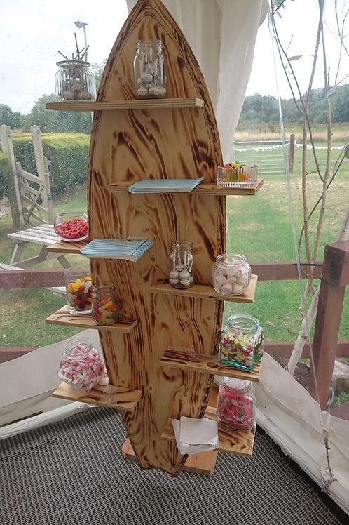 Prop - Surfboard shelf - natural wood