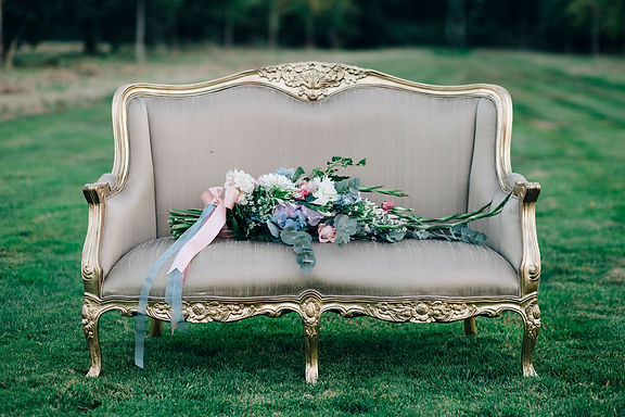 Sofa - French Antique - Gold - 2 Seater