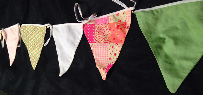 Bunting - Floral Pinks and Sage