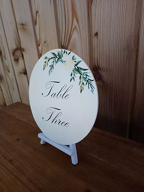 Table Number Disc - Flower decal