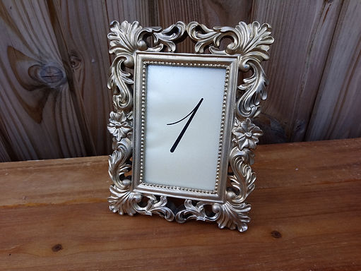 Table Number - Table Name - Frame - Champagne
