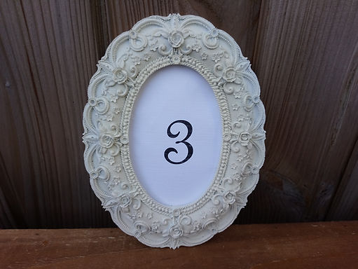 Table Number - Frame - Ivory Oval